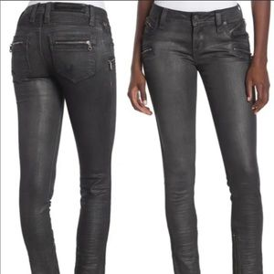 Rock Revival Camille Coated Moto Skinny Jeans